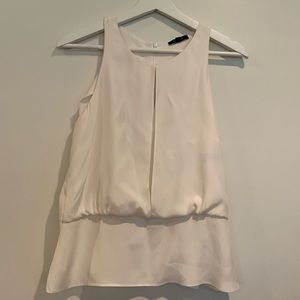 Drew white silk sleeveless blouse small EUC